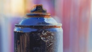 Old aerosol can - household hazardous waste