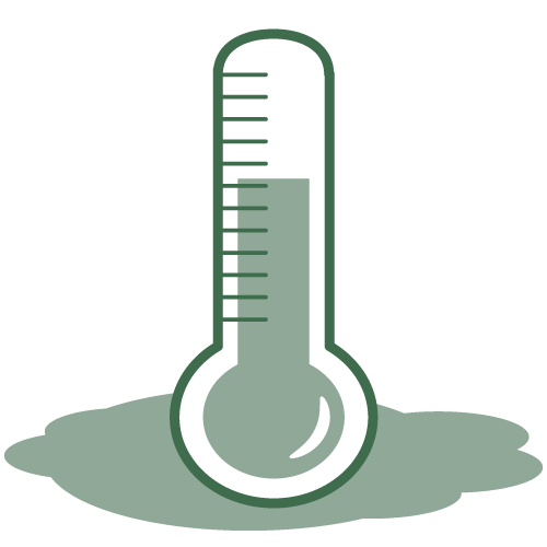 Mercury-Cleanup-and Spills-icon - image of thermometer with leak/spill