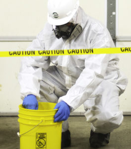 Rader hazardous materials disposal expert cleaning spill