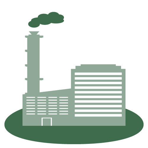 industrial-hazardous-waste-icon - factory with smokestacks