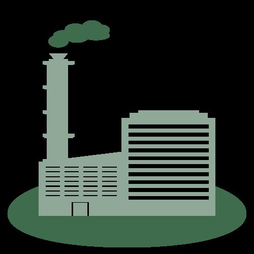 industrial-hazardous-waste-icon - factory with smokestacks